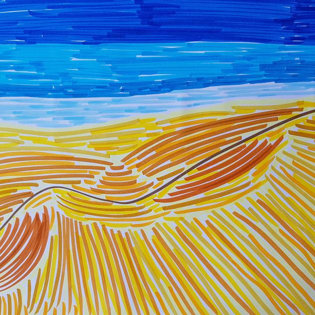 sea sand dunes sky