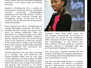 Girls in Ghana Research Featured in New Partnerships for Africa Magazine