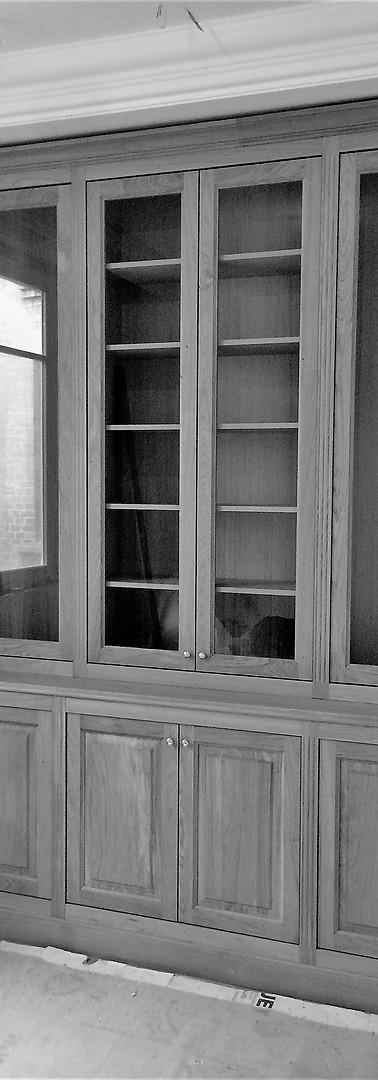 Bibliothèque vitrée