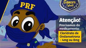 PRF lança campanha Policiais Contra o Câncer Infantil