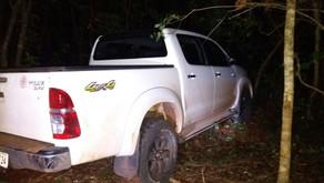 PM de Morrinhos-GO recupera caminhonete que teria sido roubada na Cidade de Buriti Alegre-GO..