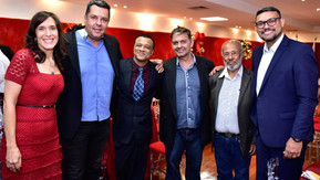 Governador Caiado e equipe promovem almoço com profissionais da imprensa dos quatro cantos do Estado
