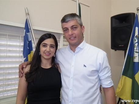 (Foto do Dia) Prefeito de Buriti Alegre: André Chaves e a primeira Dama: Analice Martins