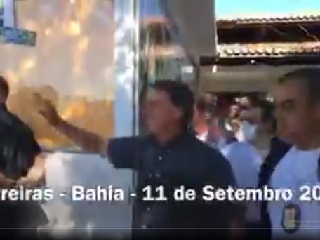 Jair M. Bolsonaro visita à Ferrovia de Integração Oeste Leste em Barreiras/BA.