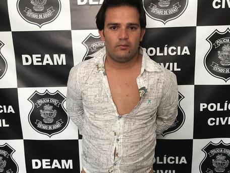 Polícia Civil de Caldas Novas cumpre mandado de prisão. O suspeito é investigado pelo feminicídio pr