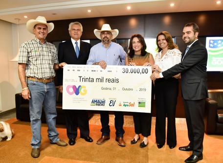 OVG recebe R$30 mil de organizadores da 1ª Cavalgada Solidária