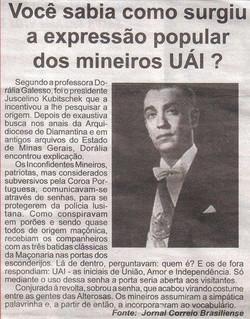 UAI  ORIGEM DA EXPRRESSÃO MINEIRA