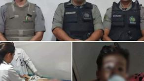 PMs de Buriti Alegre praticam ato heróico salvando mãe e seu bebê, filho de um policial (PRF)