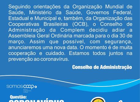 Complem adia Assembléia Ordinária marcada para o dia 30 de março