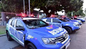 Em Goiatuba, Caiado entrega viaturas, assina ordem de revitalização de colégio