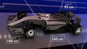 Mais largos e agressivos! Entenda o que muda nos carros de 2017 da Fórmula 1