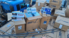 Integração: forças policiais apreendem grande carregamento de cigarros contrabandeados, em Goiás