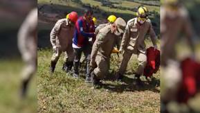 Homem é resgatado após cair durante voo de parapente em Formosa