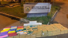 PRF encontra mais de 500 kg de droga em caminhão na BR-153 em Morrinhos-GO