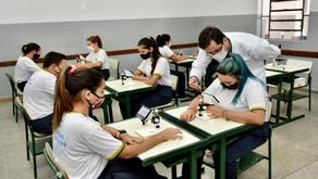 Na entrega de mais um Cepi, Caiado diz que mais de mil escolas foram reformadas