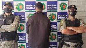 PM efetua prisão de homem por sequestro, cárcere privado, constrangimento ilegal e ameaça