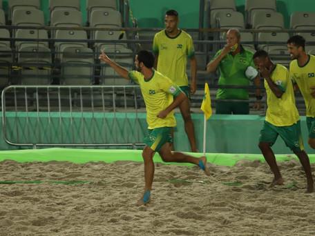 Brasil e México encerram 1ª fase do Mundial de Futebol de Areia Raiz