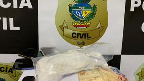 PC apreende droga que seria encaminhada para Morrinhos/GO e prende traficantes em flagrante