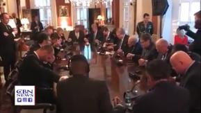 Oração feita pelo Presidente Trump no dia (30-08), nos EUA, em favor de Bolsonaro e do Brasil