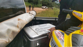 Em ação conjunta, Semad e PRF apreendem artefatos irregulares durante fiscalização no Rio Araguaia