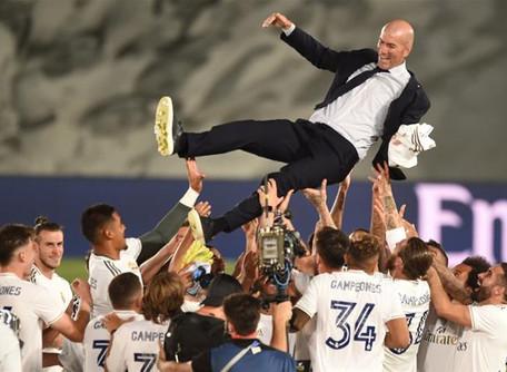Zidane leva o Real Madrid a 34º título da Liga Espanhola