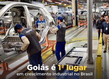 Goiás está no 1º lugar do País em crescimento de indústrias!