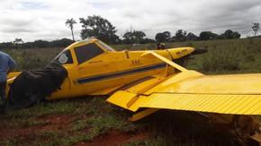 Piloto de avião agrícola sai ileso após fazer pouso forçado em Quirinópolis