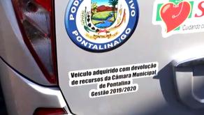 Presidente da Câmara Municipal de Pontalina entrega ônibus à Sec. da saúde do município