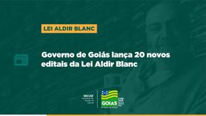Inscrições para 20 novos editais da Lei Aldir Blanc começam na terça (27)