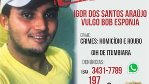 Foragido suspeito de homicídio e roubo