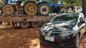 Tratores e defensivos agrícolas roubados recuperados com receptador