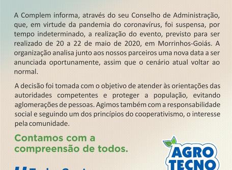 AgroTecnoleite é suspenso por tempo indeterminado em Morrinhos