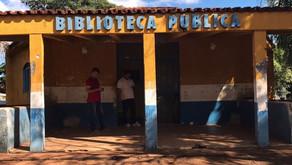 Prefeito André Chaves de Buriti Alegre-GO, autoriza o início da reforma da Biblioteca Pública que es