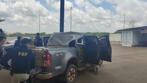 PRF intercepta caminhonete abarrotada de maconha na BR 060, em Anápolis