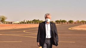 Em Morrinhos, Caiado inaugura readequação de aeródromo e batalhão da PM