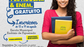 Prefeitura de Morrinhos lança Cursinho Pré-Vestibular/ENEM com 150 vagas