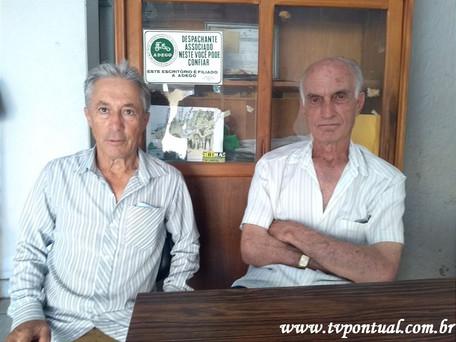"""Retornando o quadro """"Foto do Dia"""" destacamos o Sr. Jerson Moura e o Helinho do Banco do Br"""