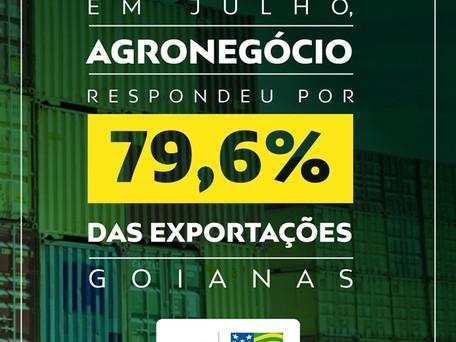 Em julho, agronegócio respondeu por 79,6% das exportações goianas
