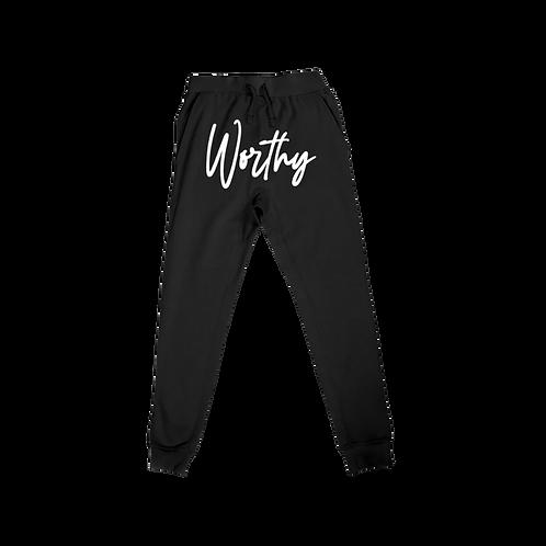 Black & White Worthy Joggers