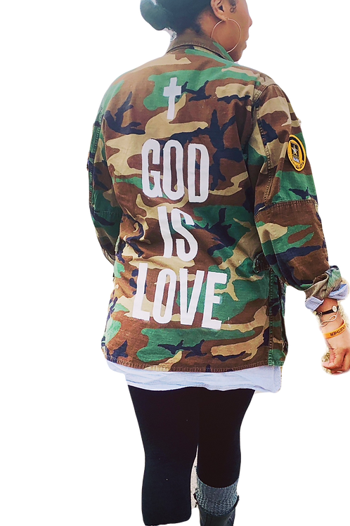 God is Love Camo Jacket