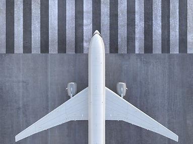 Avião na pista