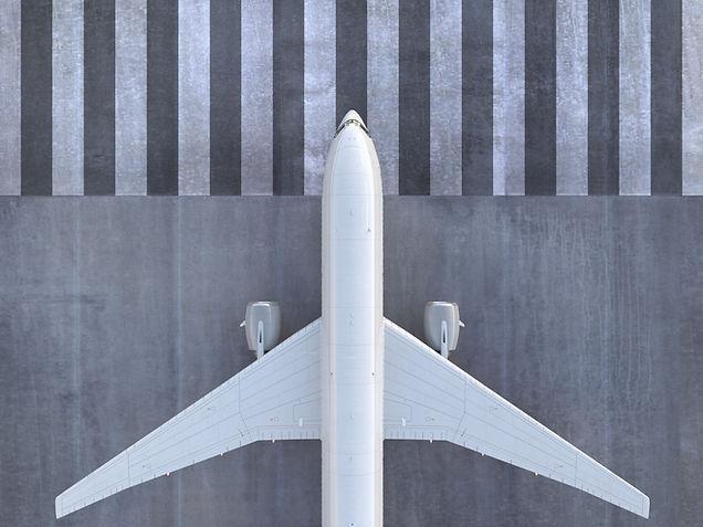 Avion sur la piste