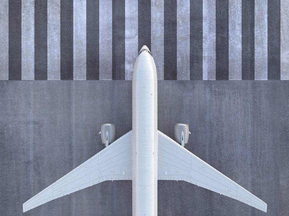 滑走路に飛行機
