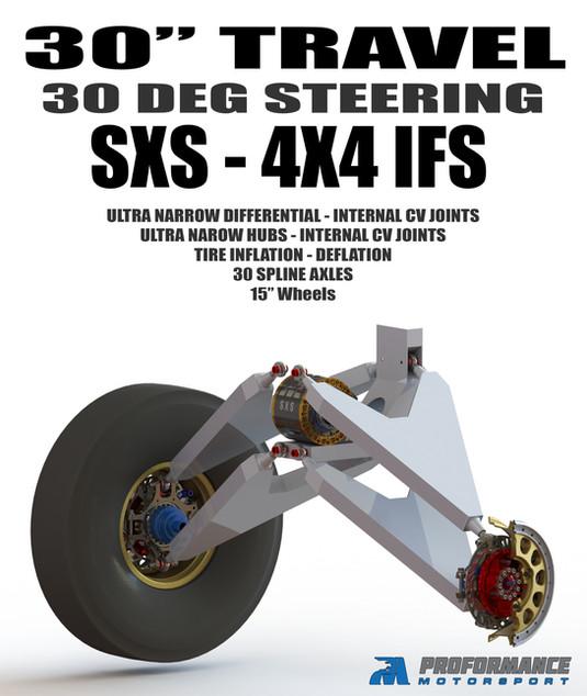 Predator SXS 4X4 30 Inches Front Wheel Travel IFS