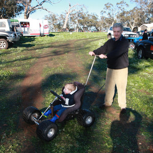 Custom Made Motorsport Pram - Go Kart Perth