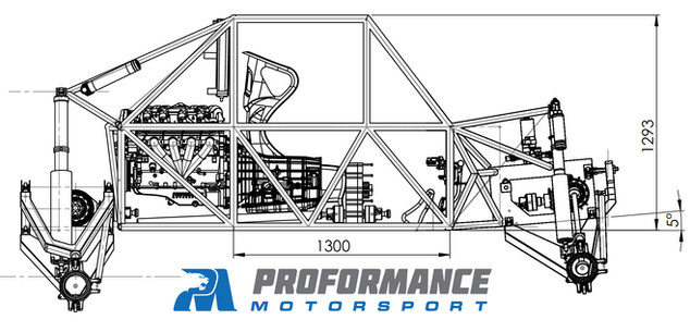 Proformance Predator Chassis Dimensions 4X4 Flat Pack Buggy