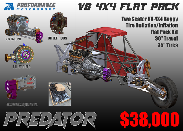 Predator V8 4X4 Flat Pack Buggy - Price + Components