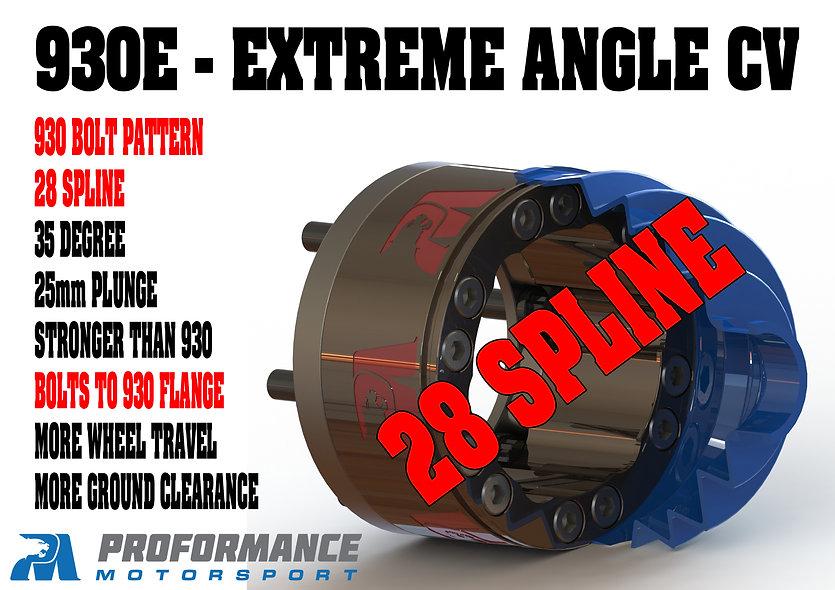 930E Extreme Angle Straight Groove CV 28