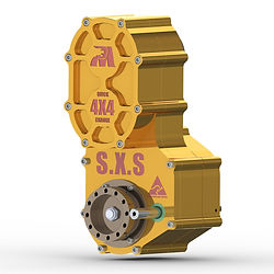 SXS UTV Motorcycle Powered Transfer Case with Quick Change Gears and Reverse