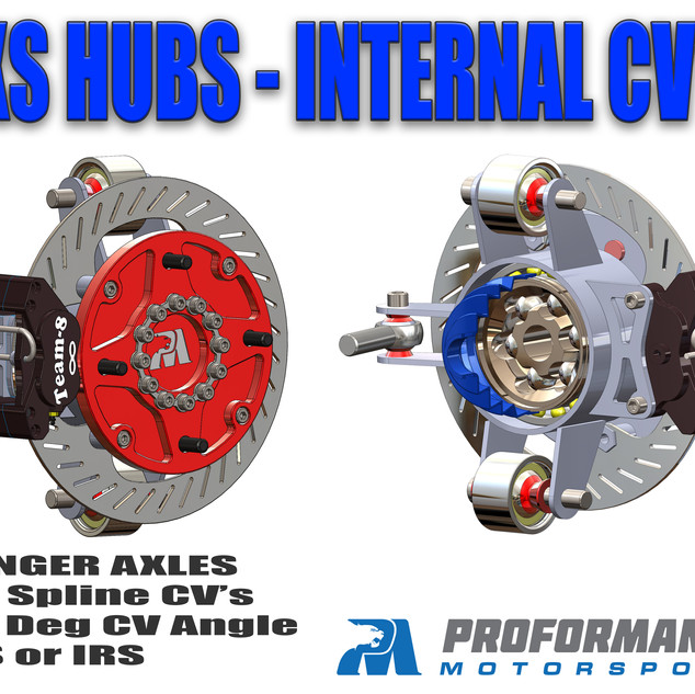 SXS Hubs and Spindles with Internal CV Joints